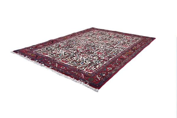 Birds & Plants  3 x 5 Colorful Rug | Red and Beige Rug | Vintage Persian Kazak | Hand Woven Antique Rug | Persian Style Landscape Rug