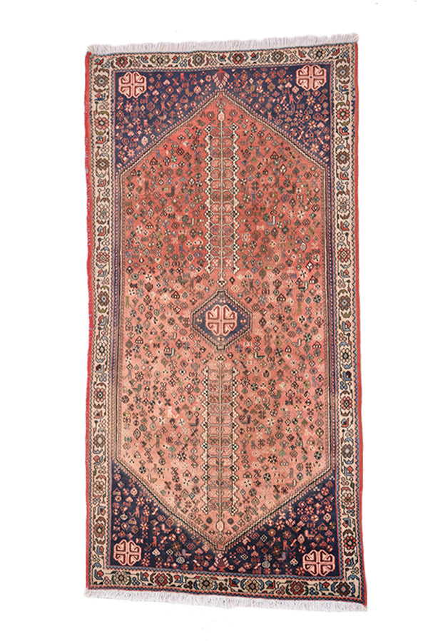 Light Coral Rug | Vintage Area Rug | Persian Caucasian Turkish Style | Runner 3x6 Ft Rug | Earth Tone Rug | Kitchen Rug