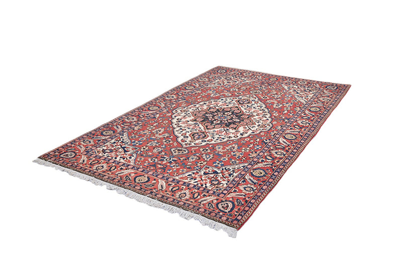 Red Oriental Persian Style Area Rug, 5x8 Feet