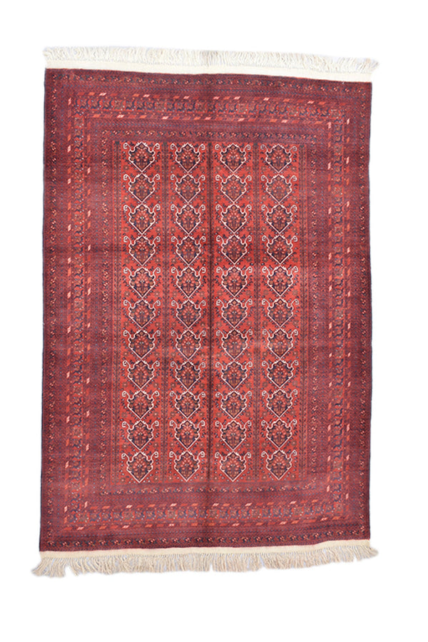 Pink Red 6x9 Vintage Oriental Rug | Large Handmade Rug | Wool Soft Pile Persian Rug | Wool Rug | Living Room Rug