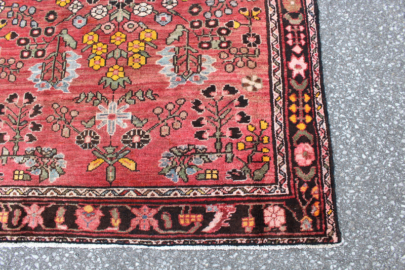Pink Yellow 4x6 Persian Hand Knotted Area Rug
