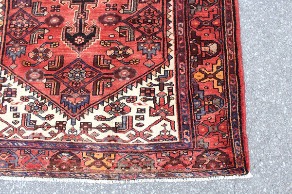 Orange Pink 5x7 Vintage Tribal Oriental Persian Handmade Rug
