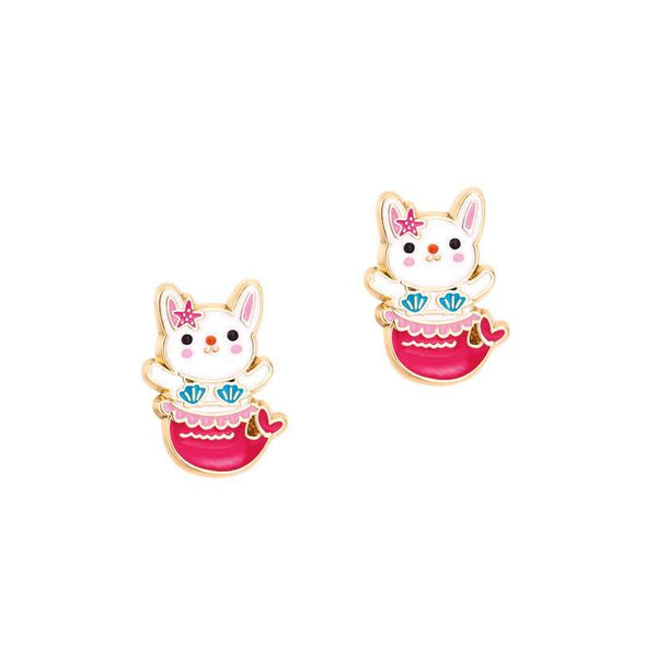 Kitten Mermaid Cutie Studs - Addison Lane