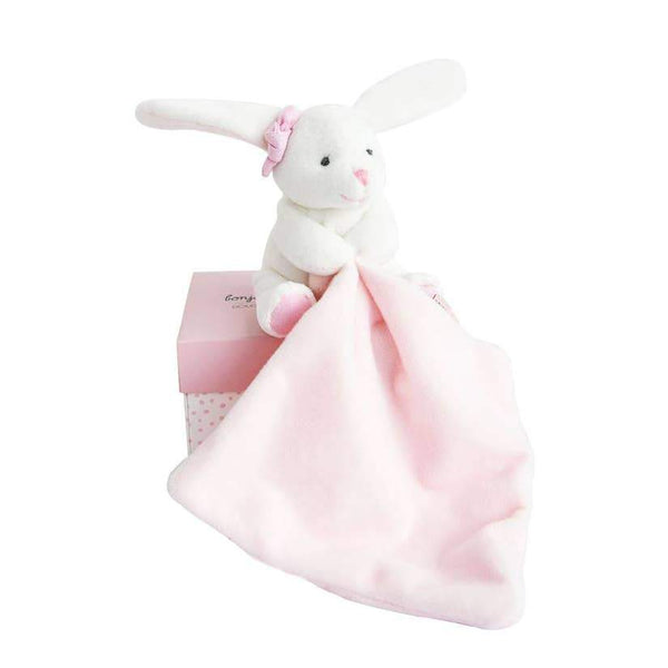 Hello Baby Blanket with Plush Stuffed Animal Bunny - Addison Lane