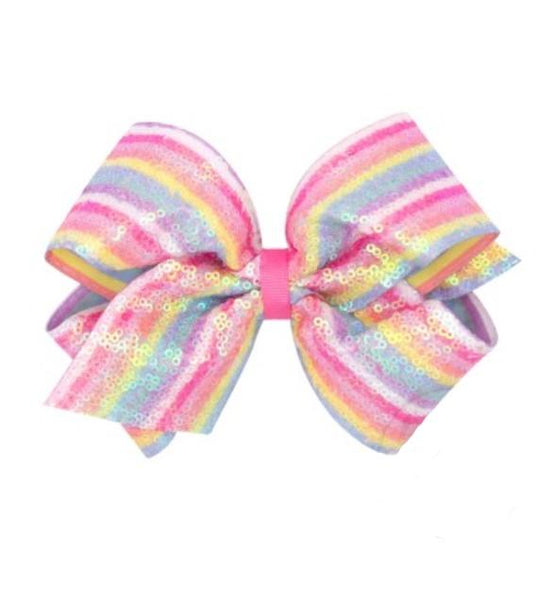 Sequined Stripe Bow - Addison Lane