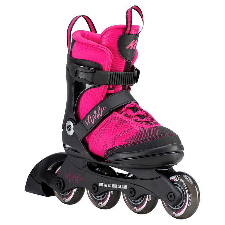 K2 Marlee Jr Magenta adjustable skates