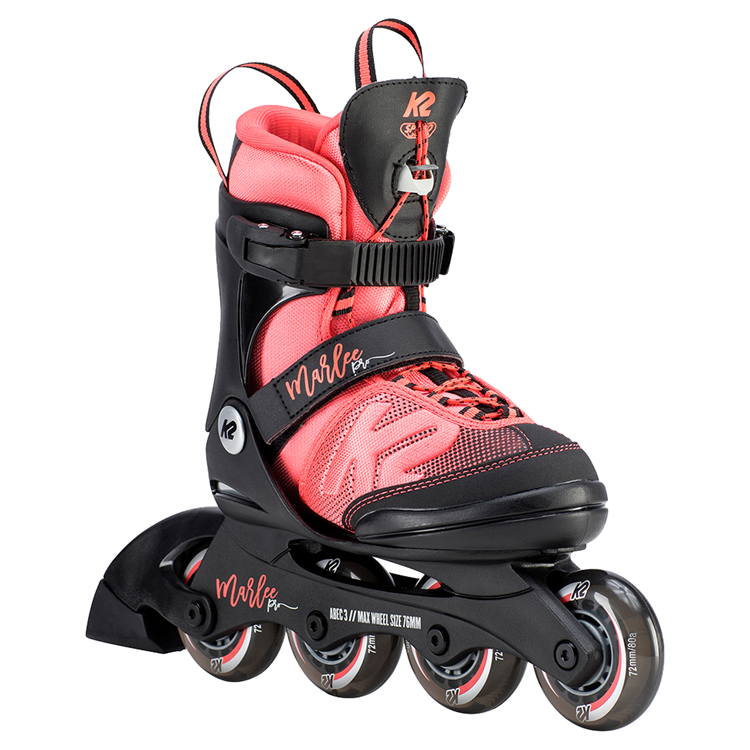 K2 Marlee Jr PRO Coral adjustable inline skates