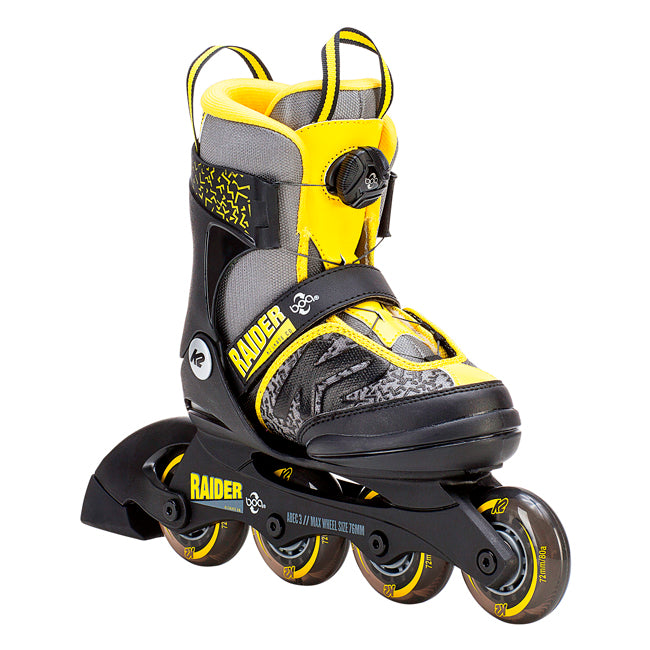 K2 Raider Jr BOA adjustable skates