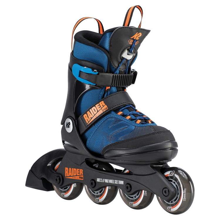 K2 Raider Jr PRO Blue adjustable inline skates