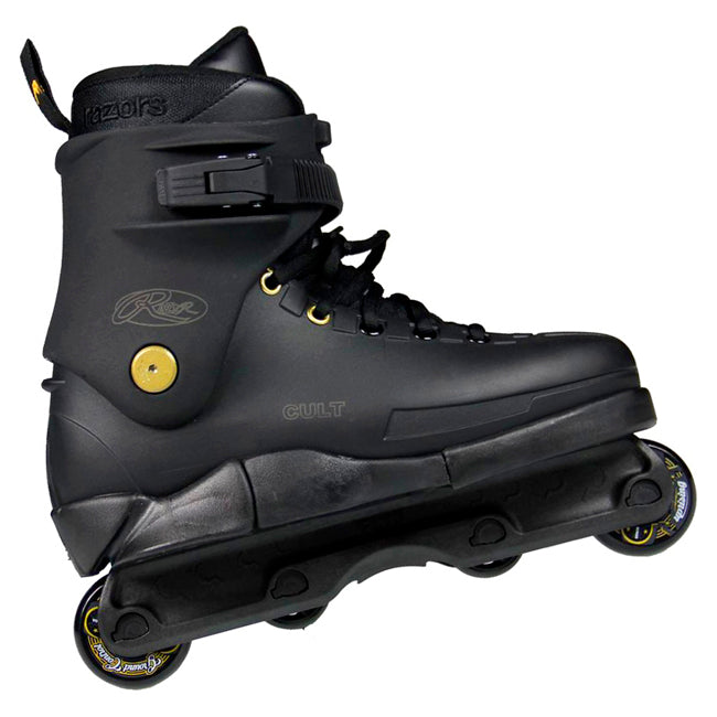 Razors Cult Street Gold Aggressive Skates Black Gold