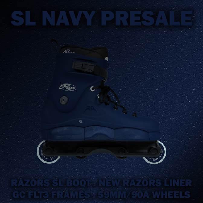 Razors SL Navy skates (Pre-Order for Sept 2nd!)