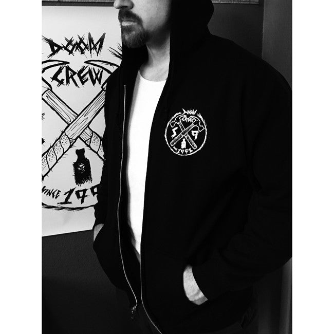 S9 Doom Crew zip-up hooded sweater
