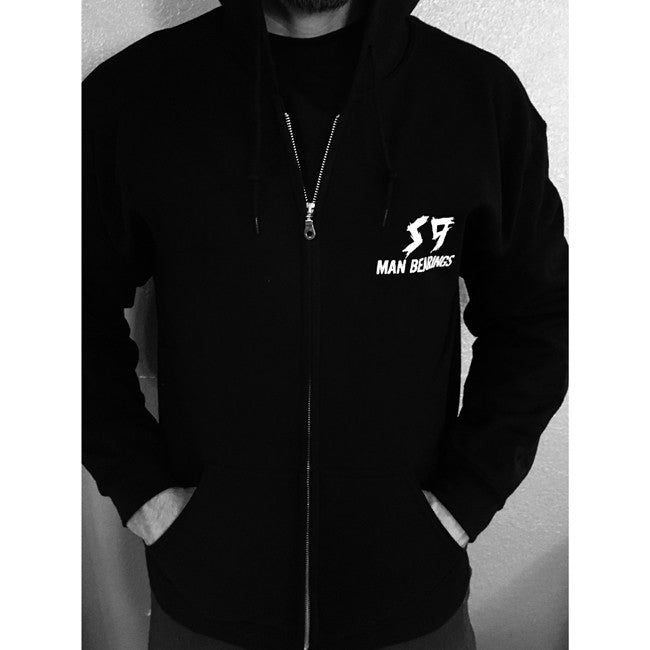 S9 Man Bearings zip up hooded