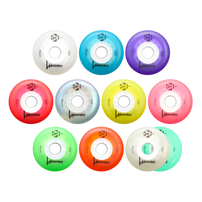 Luminous 72mm/80mm INLINE SKATE light up wheels