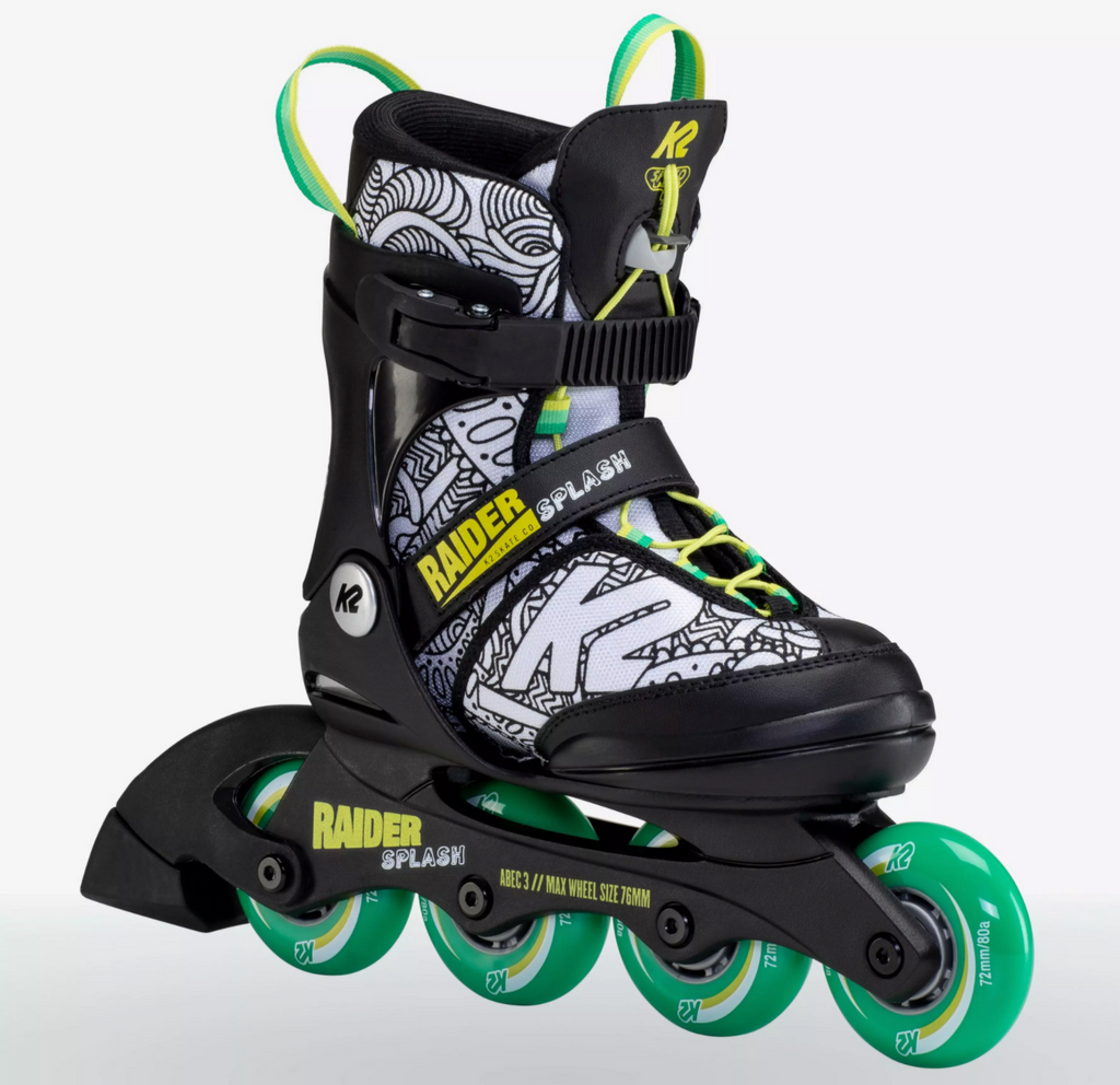 K2 Raider Jr Splash adjustable inline skates