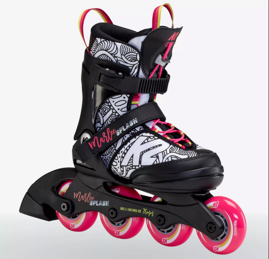 K2 Marlee Jr Splash adjustable inline skates