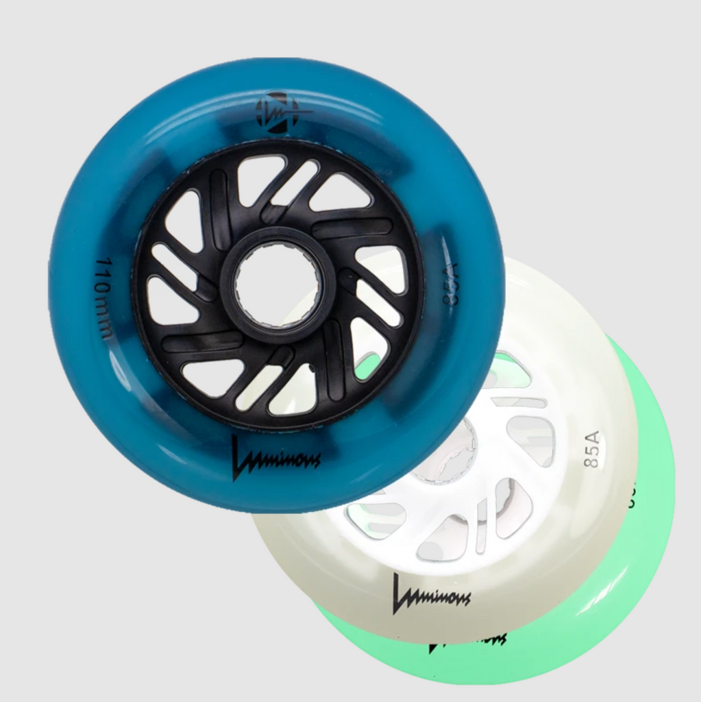 Luminous 100mm INLINE SKATE light up wheels