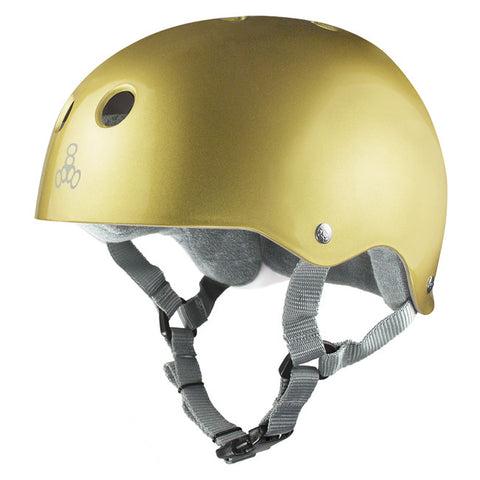 Triple 8 Sweatsaver Gold helmet