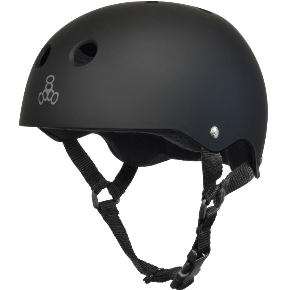 Triple 8 Sweatsaver Black skate helmet