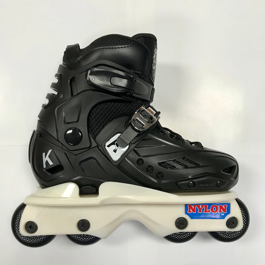 Kaltik K Jr Black Flat junior inline skates