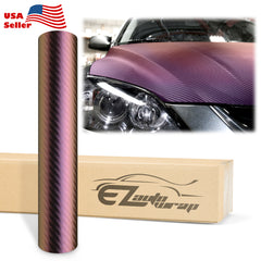 Chameleon Carbon Fiber Purple Gold Vinyl Wrap