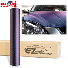 Chameleon Carbon Fiber Purple Blue Vinyl Wrap