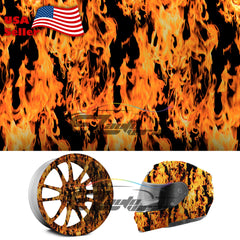"19""x 38"" Hydrographic Film Fire Flame #15"