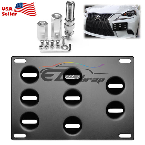 Bumper License Plate Bracket Tow Hook Mount Relocator For Scion Toyota FRS Subara BRZ WRX