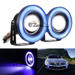 2pcs High Power Blue Projector LED Angel Eyes Rings