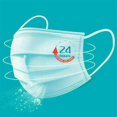 50pcs 3-ply disposable face masks