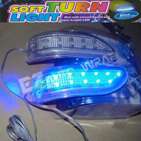 LED Side Mirror Turn Signal Light (Blue)