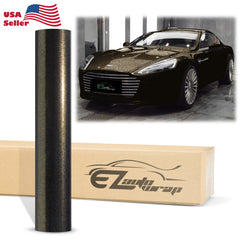 Chameleon Gloss Metallic Diamond Black Gold Vinyl Wrap