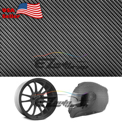 "19""x 38"" Hydrographic Film Black Carbon Fiber #6"