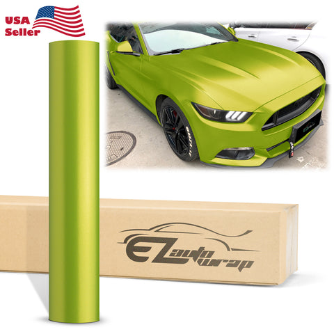 Matte Metallic Satin Pearl Lime Green Vinyl Wrap