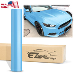 Matte Metallic Satin Pearl Light blue Vinyl Wrap