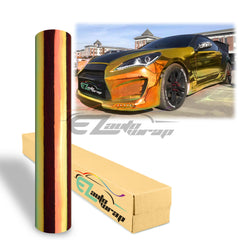 Golden Orange Neo Chrome Rainbow Holographic Vinyl