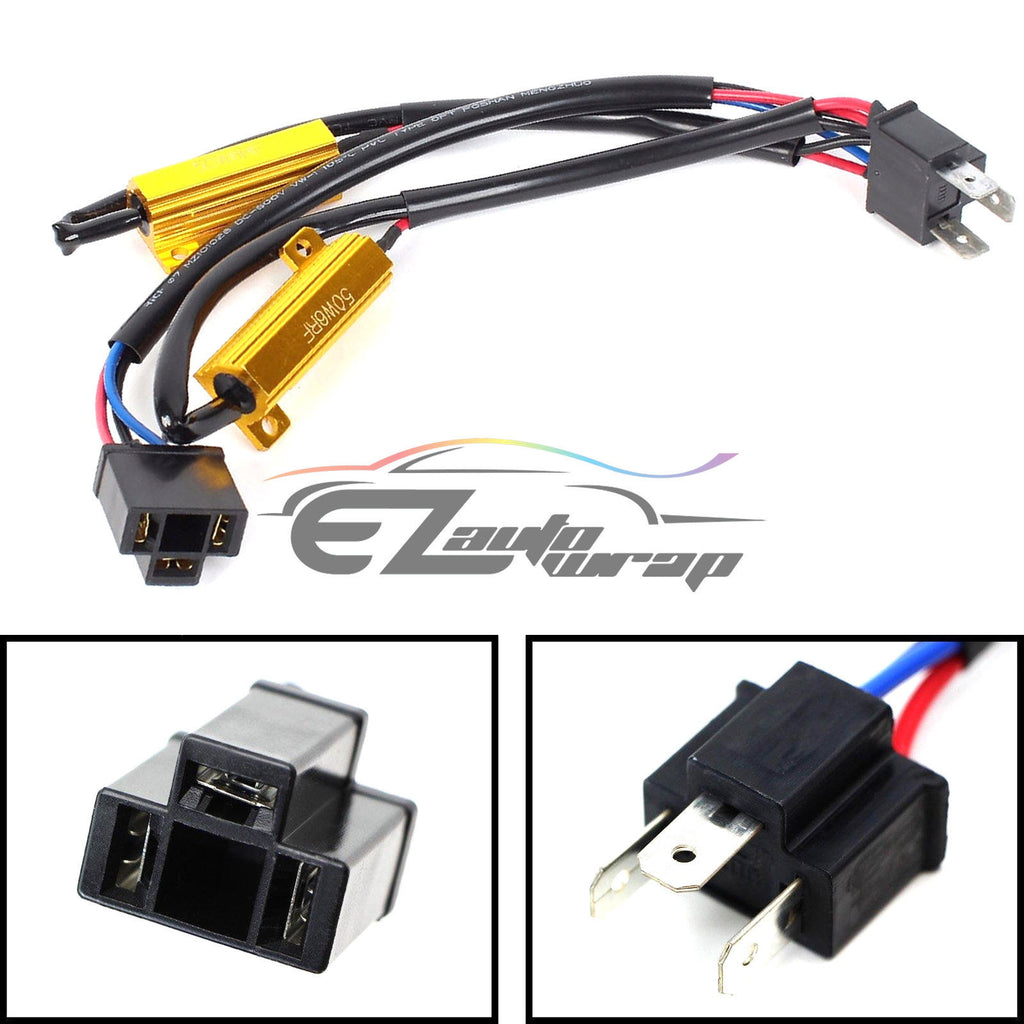Auto Wiring Harness Conversion Kits Residential Electrical Symbols Car Pins H4 Hb2 9003 Hid Kit Load Resistors X2 Rh Ezautowrap Com Complete Ford