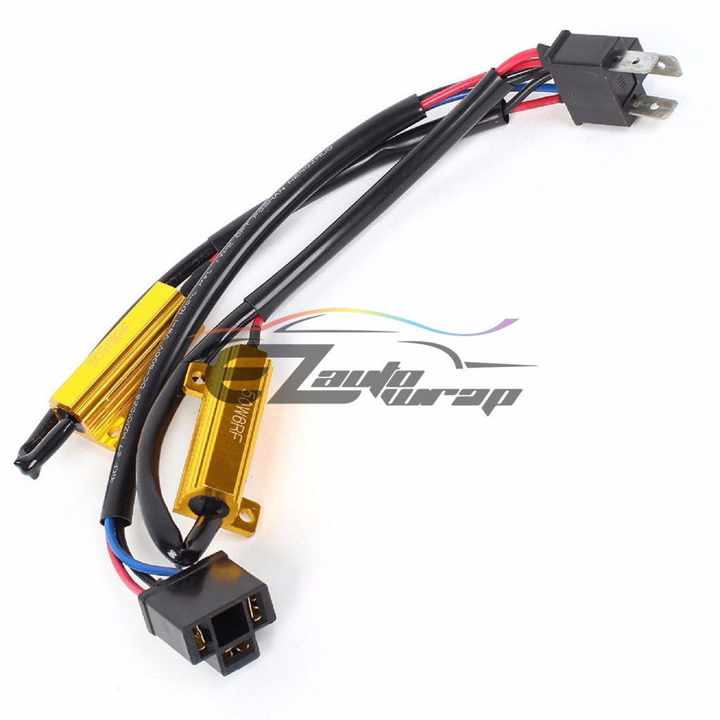 H4 Hb2 9003 Hid Conversion Kit Load Resistors Wiring Harness X2