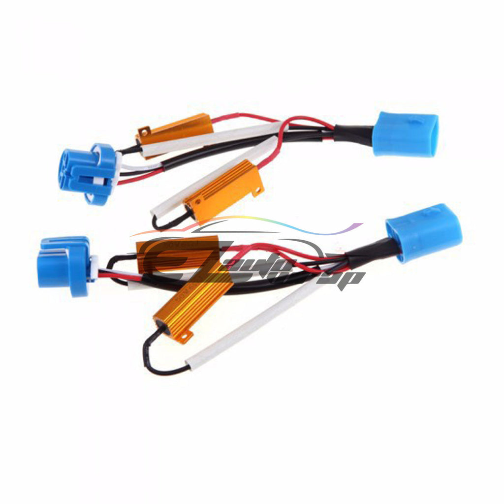 9004 9007 Hid Conversion Kit Load Resistors Wiring Harness X2