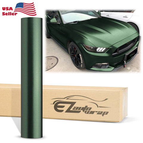 Matte Metallic Satin Pearl Army Green Vinyl Wrap