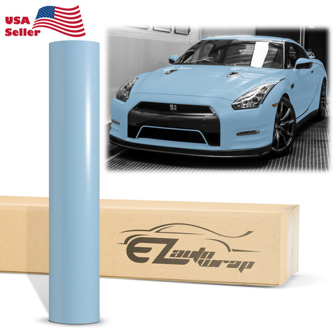 Satin Sea Breeze Blue Matte Flat Vinyl Wrap