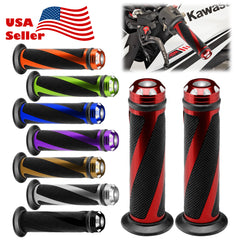 "Motorcycle Hand Grips Rubber 7/8"" Handle Bar 01"