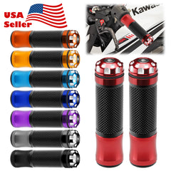 "Motorcycle Hand Grips Rubber 7/8"" Handle Bar 02"