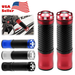 "Motorcycle Hand Grips Rubber 7/8"" Handle Bar 03"