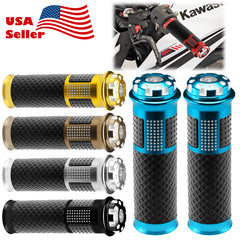 "Motorcycle Hand Grips Rubber 7/8"" Handle Bar 05"