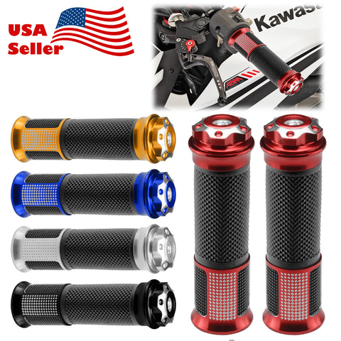 "Motorcycle Hand Grips Rubber 7/8"" Handle Bar 06"