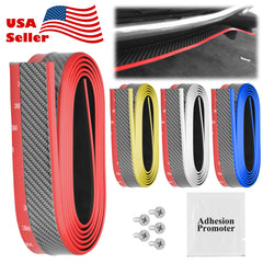 Carbon Fiber 2 Colors Front Bumper Rubber Lip