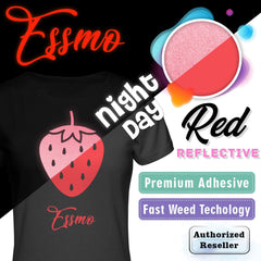 "ESSMO™ 10"" Red Reflective Heat Transfer Vinyl HTV RT07"