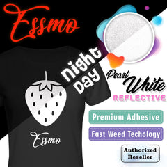 "ESSMO™ 10"" Pearl White Reflective Heat Transfer Vinyl HTV RT08"