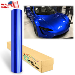 Gloss Metallic Royal Blue Vinyl Wrap